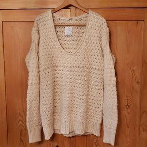 Free People tunic length sweater